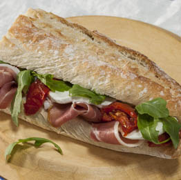 Our freshly prepared baguettes are ideal for a delicious lunch
